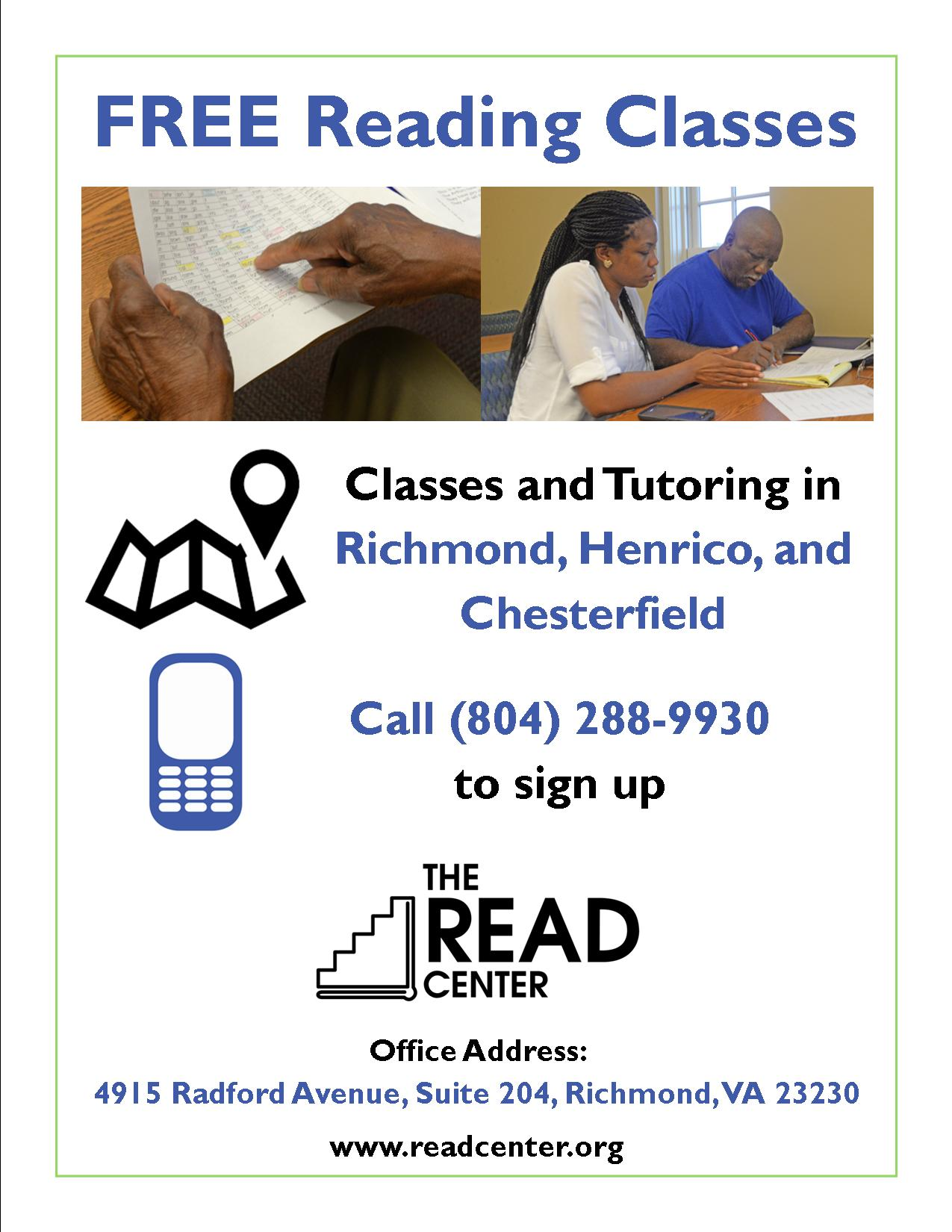 Free Reading Classes At The Read Center The Read Center