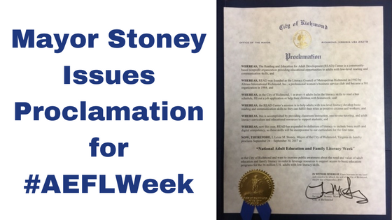 Mayor Stoney Issues Proclamation