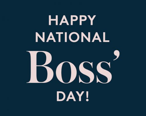 Happy National Boss's Day