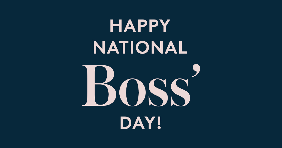photograph relating to Happy Boss's Day Cards Printable identified as Satisfied Countrywide Bosss Working day! The Go through Centre