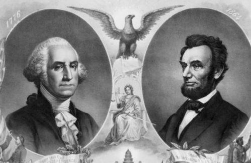Washington and Lincoln via Snopes.com