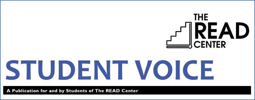 header of student voice publication